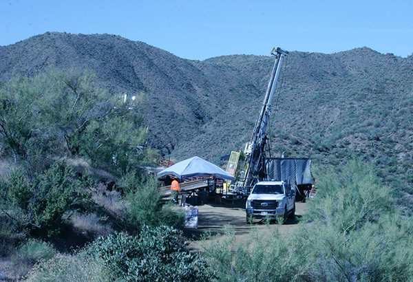 Drill number 1 at the Kay Mine Project, currently drilling hole KM-20-10 in the South Zone